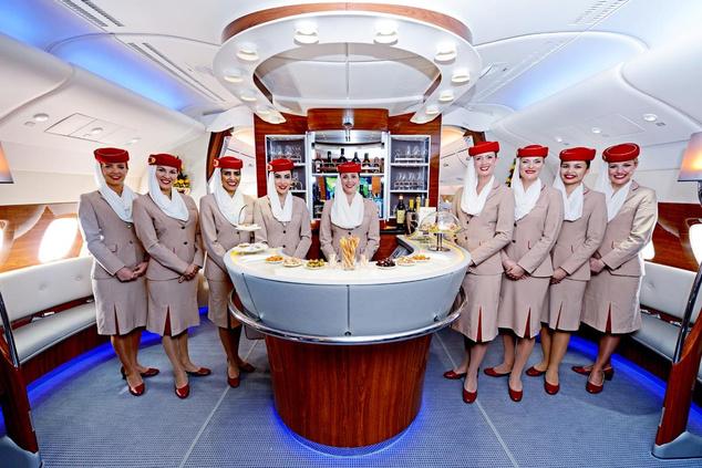 Elképesztő luxus az Emirates Airbus A380-as fedélzetén
