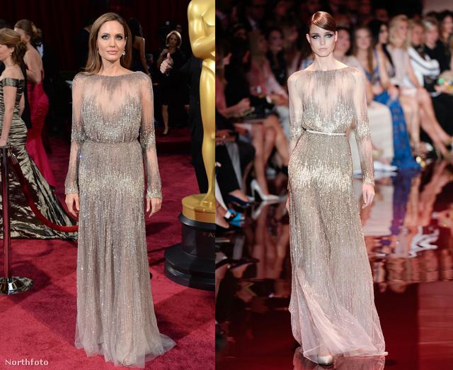 Angelina Jolie az Oscar-esten.