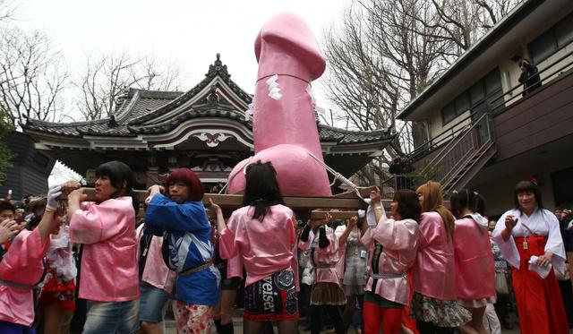 Óriás pénisszel köszöntötték a tavaszt Japánban