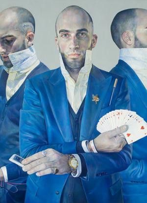 Tóth Ágnes 2008 óta készíti , töredezett hiányos festményeit.