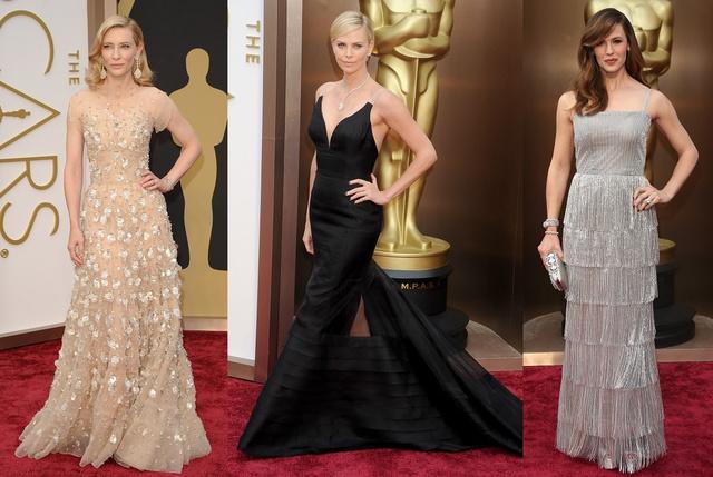 Blanchett, Theron és Garner, összesen 8,71 milliárd forintnyi ruhában és ékszerben a vörös szőnyegen.