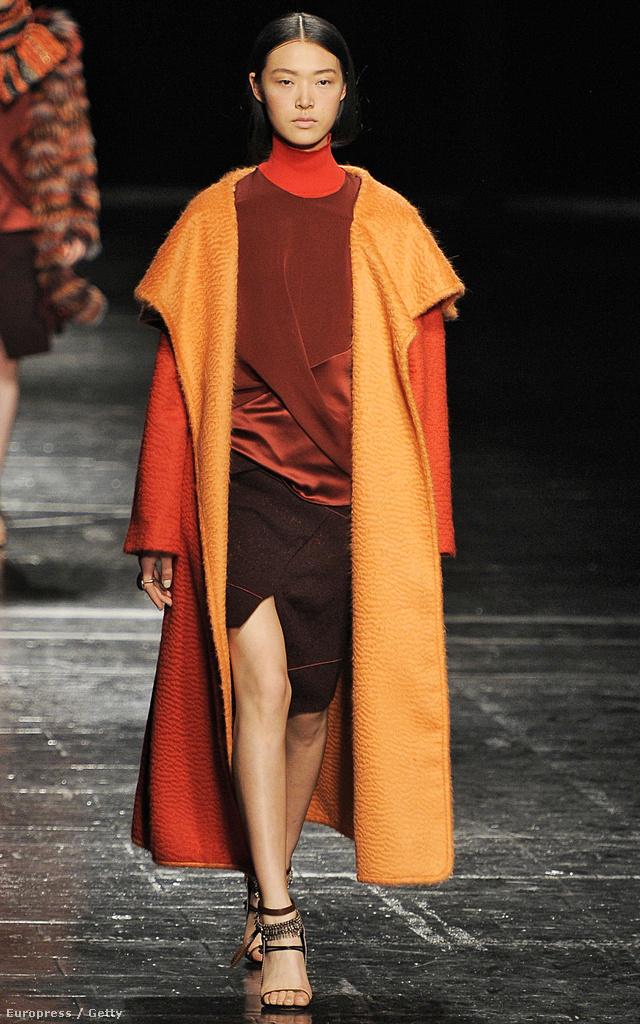 Prabal Gurung viszont szívesebben látná narancsszínű kabátban a nőket.