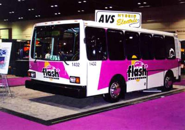 Az AVS-22 hybrid bus egy kiállításon