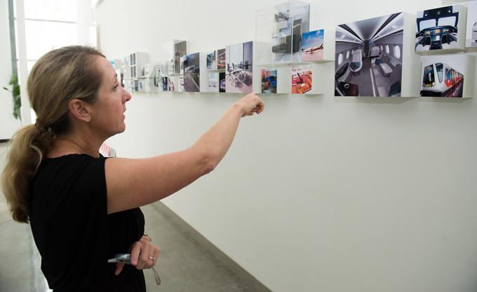 Jackie Jones showing me the portfolio
