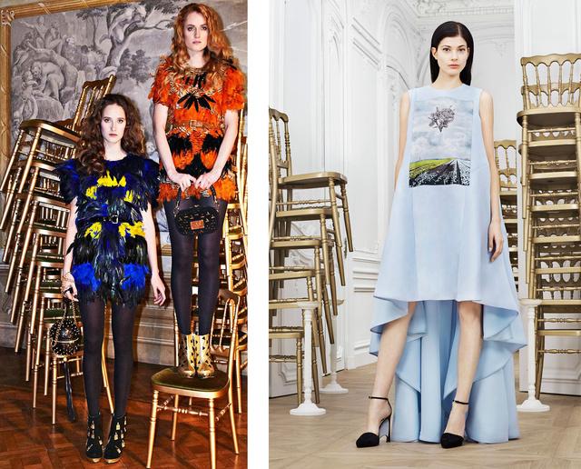 Balra Abodi Dóra 2013-as őszi-téli szezonra szánt ruhái, jobbra pedig a Dior idei kampánya.