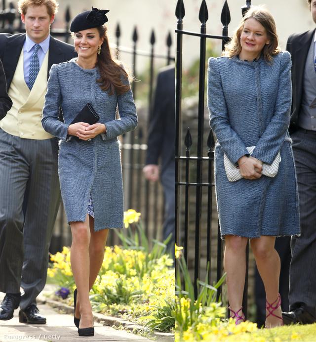 Kate Middleton és a szőke hölgy is a Missoni egyik 2014-es kabátját választotta egy esküvőre.