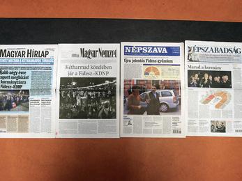 Így fogadták a lapok az újabb Fidesz-győzelmet