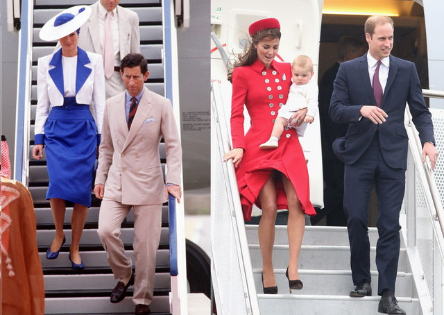 Diana hercegnőként, katalin légiutaskísérőként száll le a repülőről... A kegyetlen kritikusok szerint.