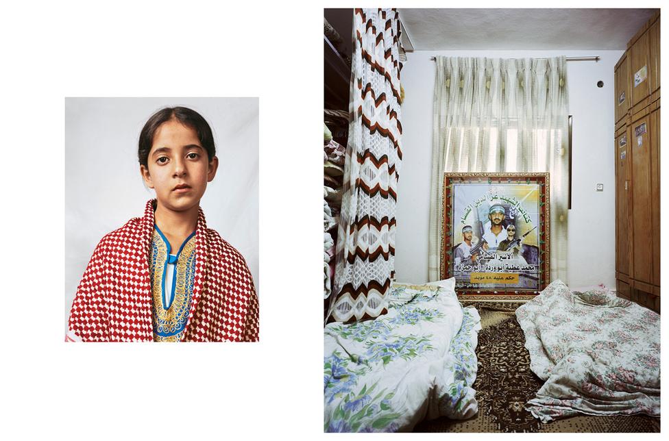 Douha 10 éves, a szüleivel és 11 testvérével él egy palesztin menekülttáborban Hebronban. 5 nővérével osztozik a szobán, a család főleg zöldbabon, húson, rizsen és lencselevesen él. Az iskola tíz perc sétára van, keményen tanul, mert gyerekorvos szeretne lenni. A nagyszülei 1948-ban menekültek el a falujukból, azóta élnek menekülttáborban. Az erőszak állandó része az életének: a bátyja egy öngyilkos merényletben halt meg, amiről bár a család nem tudott, mégis mindannyiukat büntetik érte, a házukat is lerombolták. A testvéréről készült kép van a szobája falán.