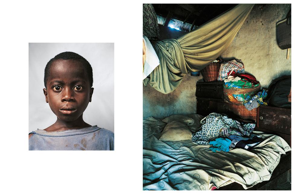 Ez a 9 éves kisfiú a libériai háborúból menekült, és egy gyerekkatonáknak fenntartott iskolába jár Elefántcsontparton. A nevét titokban tartják, mert ha kiderülne, veszélyben lenne az élete. Libériában több ezer, főként árva gyerek katonáskodott a kegyetlen polgárháborúban. Pénzt, ruhát, ételt ígértek a gyerekeknke, az  országban utaztatták őket, hogy ne találjanak haza a szülőfalujukba. Az árva fiúnak három testvére van, egy betonkunyhóban élnek, a többi iskolatársukhoz hasonlóan. A kedvenc étele a rizs paradicsommal, és a hús hallal összekeverve. Szereti a focit, ha felnő, tanár szeretne lenni.