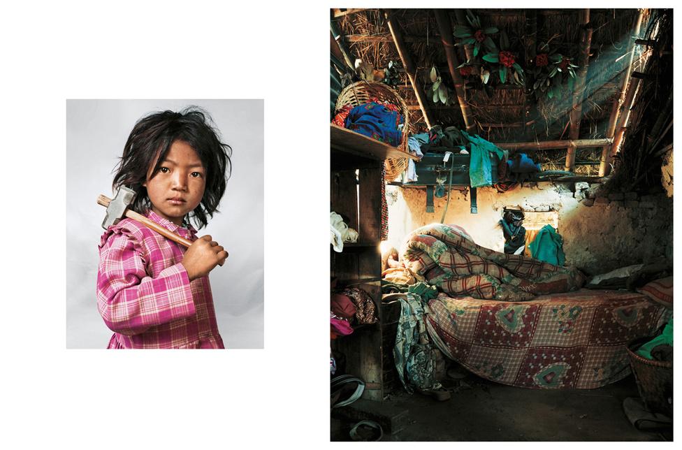 Indira 7 éves, a szüleivel és testvéreivel él Katmandu közelében Nepálban. A házukban csak egyetlen szoba van, egyetlen ággyal, a gyerekek a földön alszanak egy közös matracon. A család annyira szegény, hogy Indira 3 éves kora óta dolgozik a helyi bányában, ahol összesen 150 gyereket foglalkoztatnak. Sokan megvakulnak közülük, mert nincs szemüvegük sem, amivel védhetnék magukat a törmeléktől. Indira napi 5-6 órát dolgozik, aztán anyjának segít a mosásban és a főzésben. A kedvenc étele a tészta. Iskolába is jár, ami harminc perc gyalogútra van. Nem bánja, hogy a bányában kell dolgozni, de jobban szeret játszani. Ha felnő, táncos szeretne lenni.