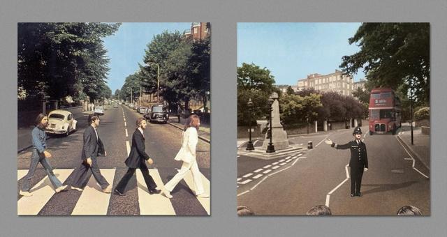 A Beatles legendás Abbey Road-os zebrás jelenete alatt Harvezt szerint egy rendőr éppen leintett egy emeletes buszt.