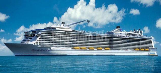 A Quantum osztályú hajók hihetetlen méretekkel rendelkezik: 18 emelet magas, súlya több mint 167 000 tonna