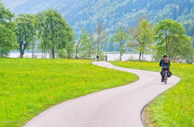 A Dunamenti kerékpárút Ausztriában