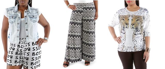 Ha valami olyan csicsás, hogy egy normál méretű nő se venné fel, ön miért tenné?                          A rainbow.com-ról ilyen csodákat lehet rendelni. Balról jobbra: mellény 25 dollár, gatya 15, póló 15 dollár.