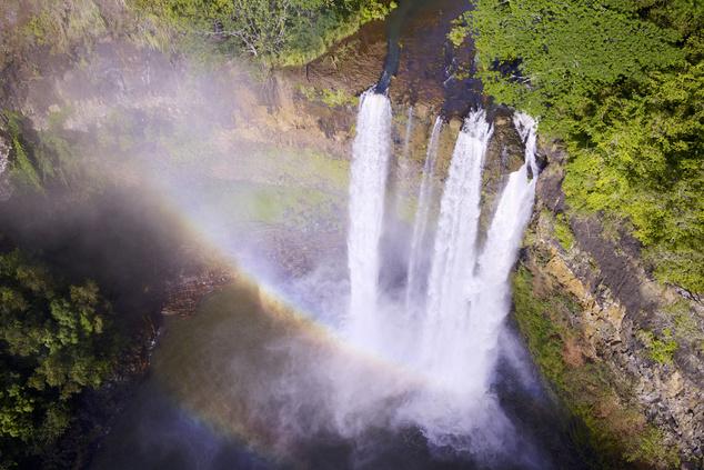 Ez pedig már a Wailua vízesés Kauai szigetén, több hollywoodi filmet forgattak itt, köztük a Jurassic parkot is