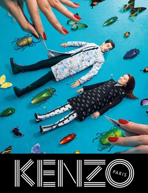 Ilyen lett a Kenzo-nak készített kampány egyik legerősebb képe.