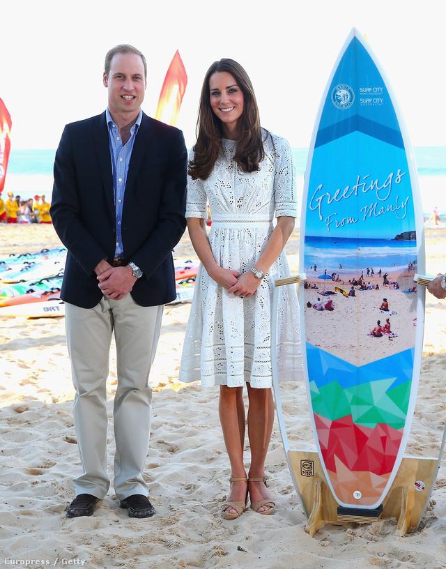 12. nap, április 18.: irány a tengerpart! Életmentők gyakorlatoztak a Manly Beach-en, miközben a hercegné lézervágott Zimmermann ruhában álldogált. Az ausztrál márka csinos darabja csak júniusban kerül boltokba, 520 dolláros áron.