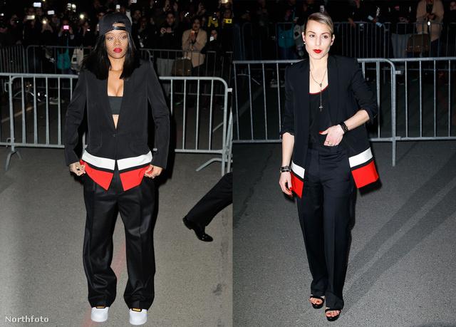 Rihanna és Noomi Rapace a Givenchy bemutatóján