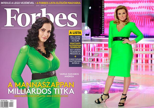 Varga-Darabos Andreára és Liptai Claudiára is ugyanazt a zöld ruhát adták. Önnek melyik verzió tetszik jobban?