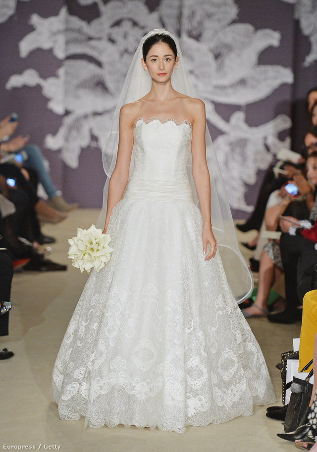 Carolina Herrera így képzeli a klasszikus menyasszonyt.