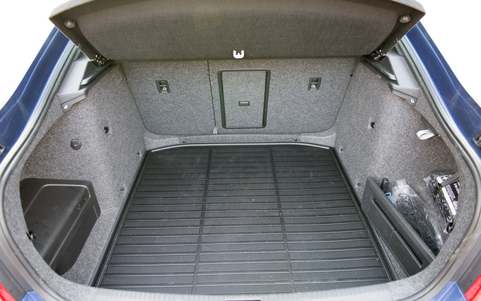 590 litres, and that's just statistics: the trunk actually feels larger.