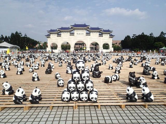 A panda populáció gyors és tragikus fogyatkozására fókuszáló papírmasék egyébként 2008 óta járják a világot.