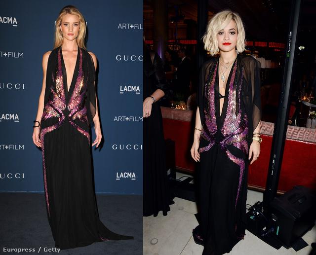 Rosie Huntington-Whiteley és Rita Ora is pózoltak a Gucci ruhájában
