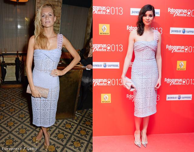 Ahogy nővére, Poppy Delevingne és Dafne Fernandez a pasztelles ruhákból.
