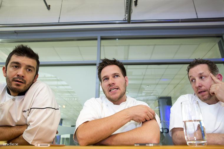Egy asztalnál a három magyar Michelin-csillagos étterem séfje