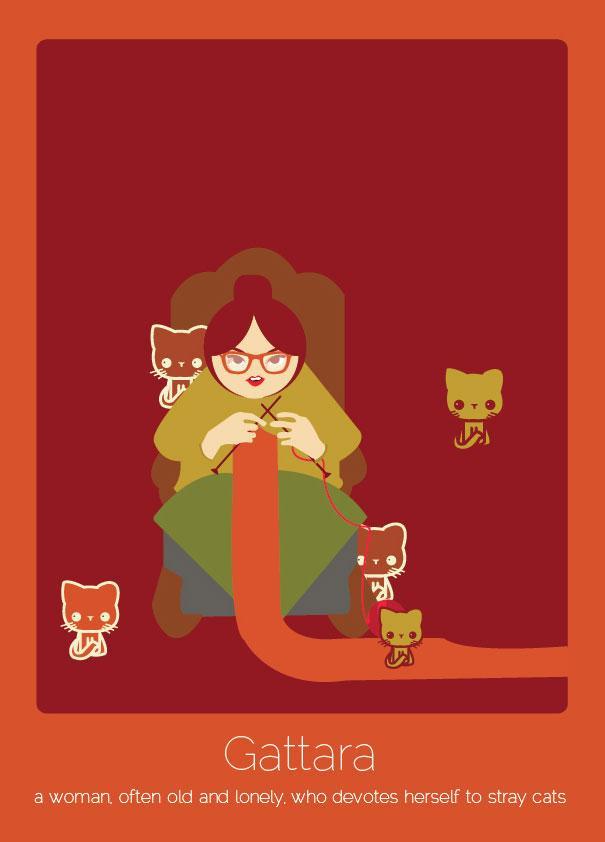 Az olasz Gattara: Magányos öregasszony, aki a kóbor macskáknak szenteki az életét.