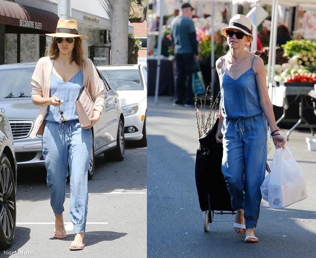 Jessica Albát és Naomi Watts-ot is egy sima hétköznapon kapták le a fotósok.