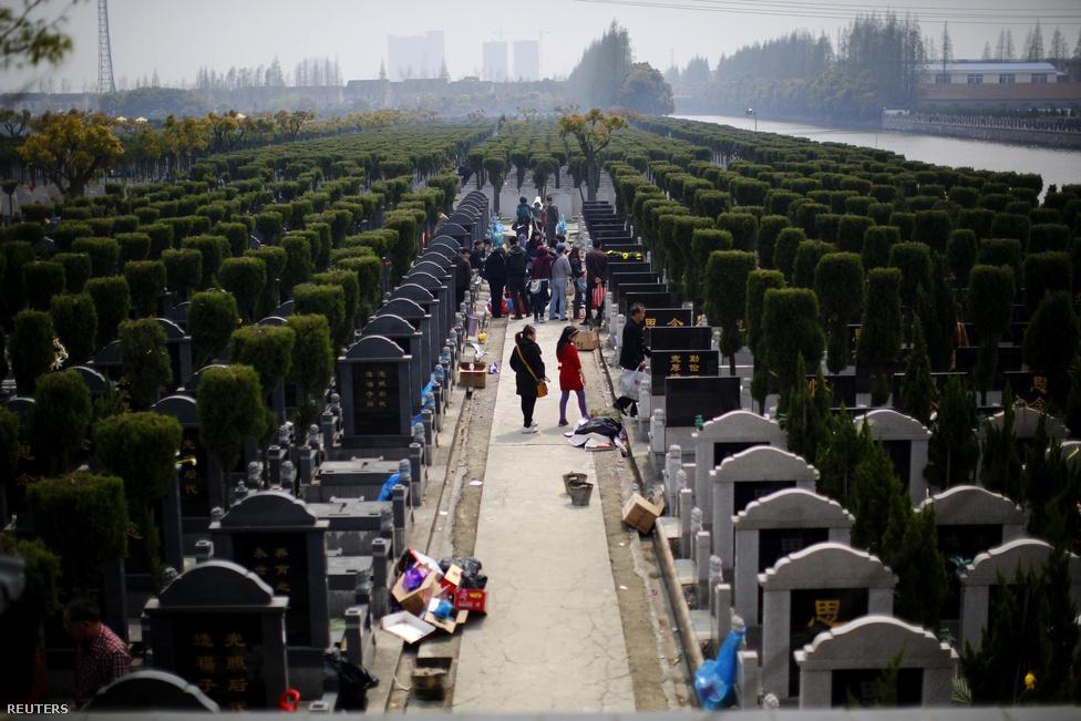 Békében nyugodni luxus: Sanghajban egy átlagos szertartás állandó sírhellyel együtt 1,2-18 forintnak megfelelő összegbe kerül. De Peking legkiemeltebb helyein akár 37 millió forintot is megadnak egy sírhelyért, amit aztán a rokonok a nagy Sírtakarító Napon – a Mao Ce-tung alatt betiltott ünnepen – gondosan ápolnak.