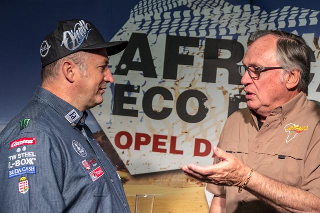 Szalay Balázs és a kétszeres Dakar győztes Jean-Louis Schlesser az Africa Rally-ról meséltek