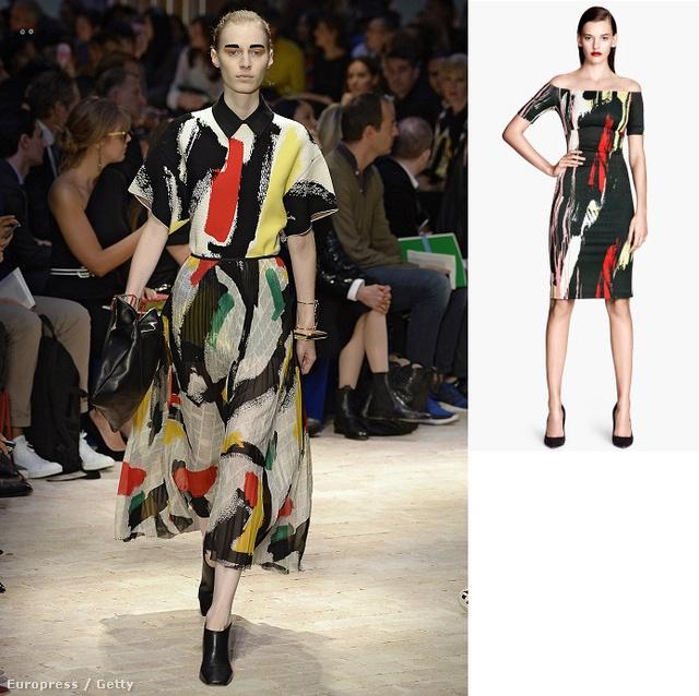 Még több részletért kattintson a képre! Balról jobbra: Céline szett a kifutón, H&M ruha, Parfois táska, 9995 forint, Zara ruha, 9995 forint.