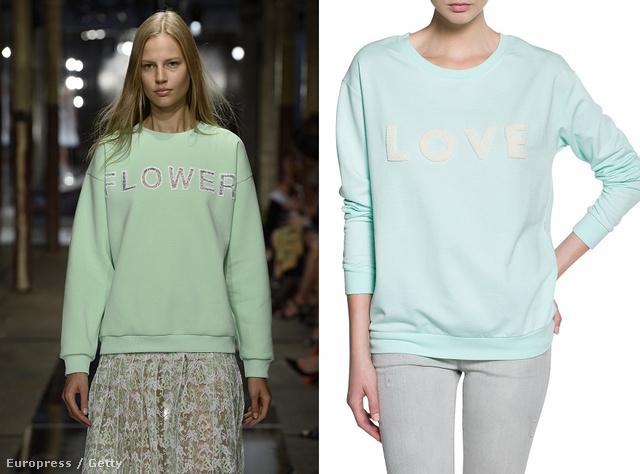 Kattintson a képre a többi ruháért! Balról jobbra: Kane Flower feliratú pulcsija, a Mango 6995 forintos pulóvere, Kane lila pulcsija és egy Topshop pulóver.