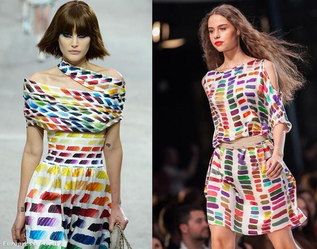 Kattintson a képre a többiért! Balról jobbra: Chanel ruha, Tomcsányi ruha, egy 42 dolláros Pixie Market szoknya, és egy 5995 forintos Zara felső.