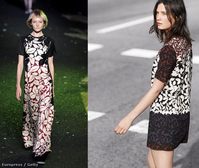 Balra a Jacobs-ruha, jobbra a 14995 forintos Zara verzió.