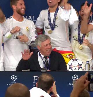 Így verte az asztalt a győztes Ancelotti