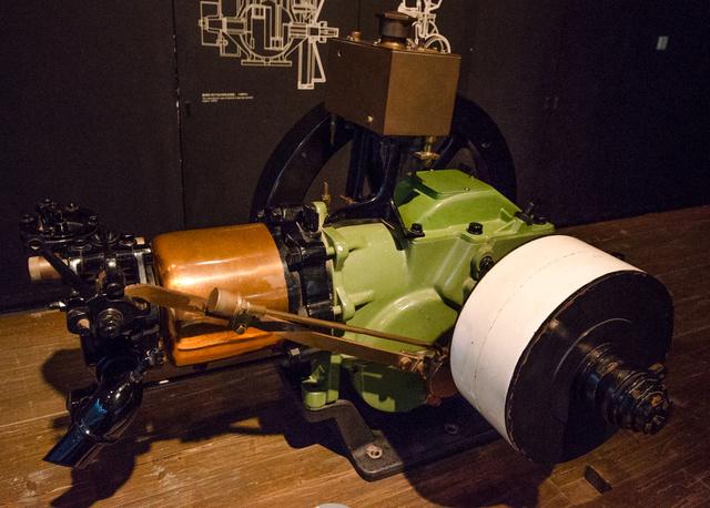 Benzinmotor 1902-ből, ami a maga 10 lóerejével az első Cadillac autókba került. Henry Leland valósággal imádta.