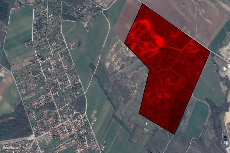 A 081/10, 094/8-10 terjedő helyrajzi számú bányaterület