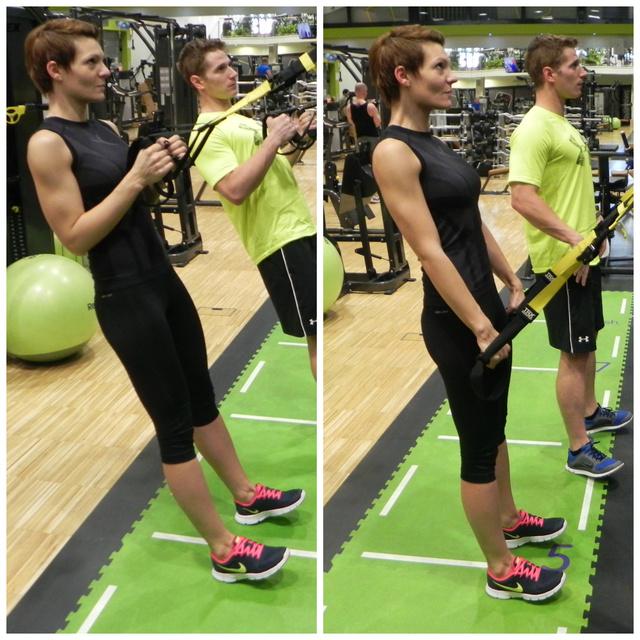 Triceps kick back - Ahogy a fejtartásomon is látszik, itt nagyon koncentráltam, számomra talán ez a gyakorlat volt a legnehezebb.