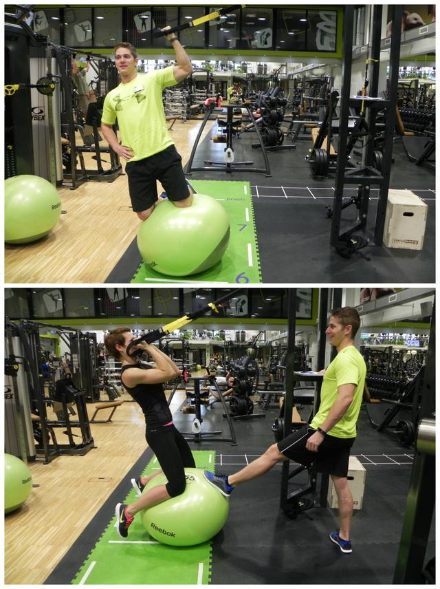 Biceps curl fit ballon: Egyedül ezt a gyakorlatot senki ne próbálja meg otthon. Ha nincs ott Gaál Attila én is majdnem hatalmasat estem.