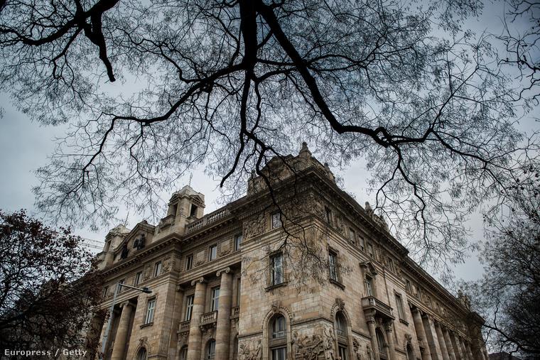 Az MNB épületének homlokzata