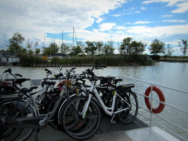 Bicajos komp Illmitz és Mörbisch között a Fertő-tó osztrák oldalán