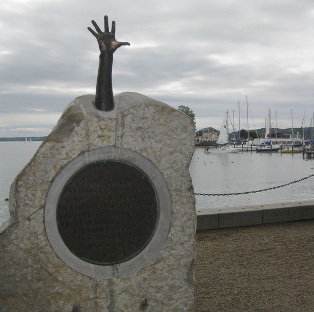 Monument on the Tagore promenade (Balatonfüred)