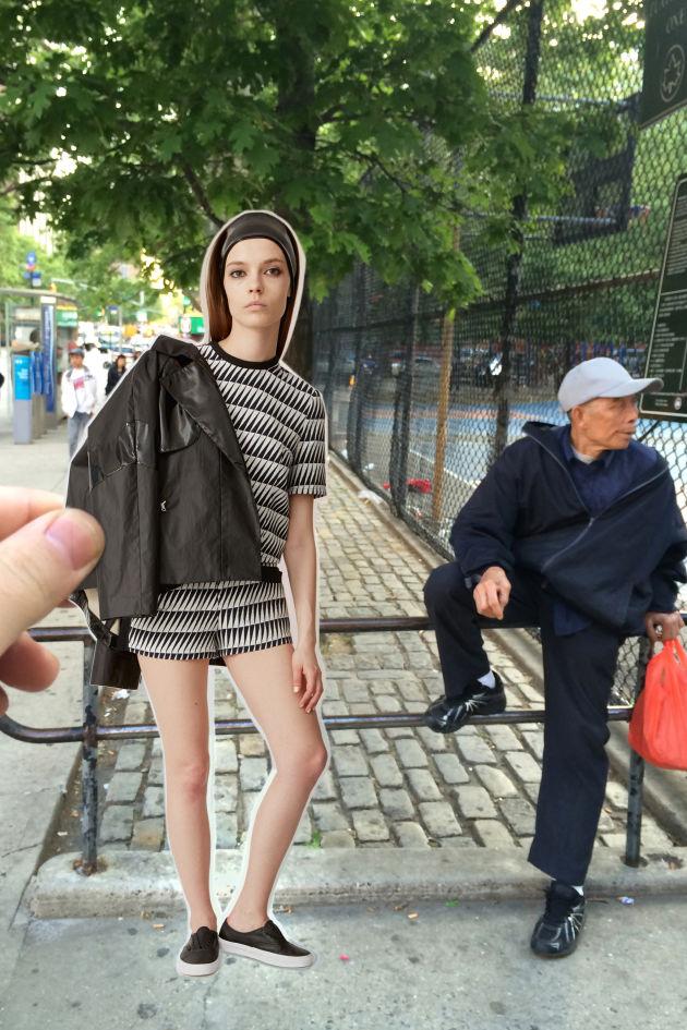 Aki legutóbb a párizsi divathét legemlékezetesebb darabjait helyezte New York utcáira és abból készített egy látványos kollázs-szerű albumot.