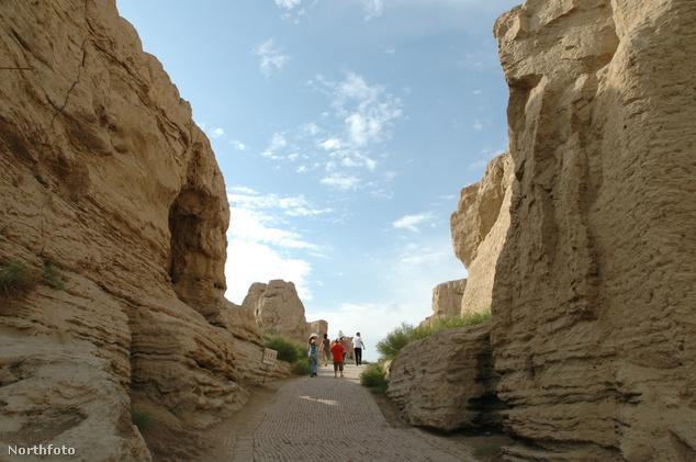Jiaohe ősi város Kína északnyugati részén, az ujgur autonóm területen