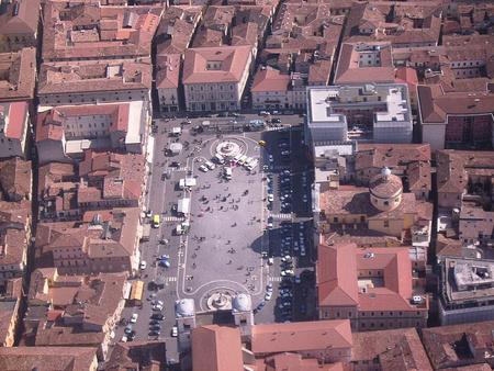 L'Aquila történelmi belvárosa a földrengés előtt (fotó: Wikipedia)