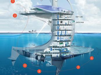 Ezt az űrhajót rakná tengerre egy francia építész